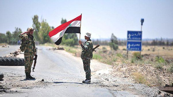 Dera bölgesindeki Suriye askerleri