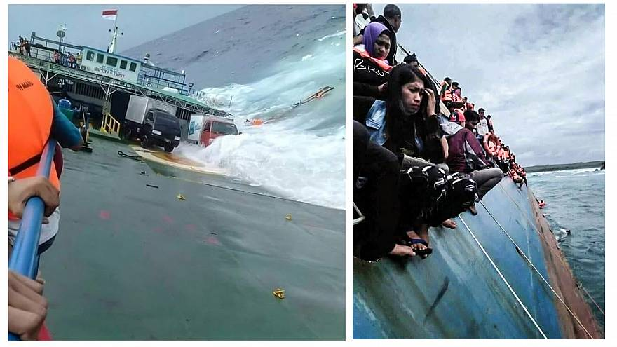 Endonezya'da batan feribot
