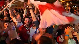 المناصرون الانجليز يحتفلون بنهاية لعنة ركلات الترجيح