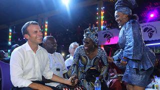 Emmanuel Macron en boîte de nuit au Nigeria