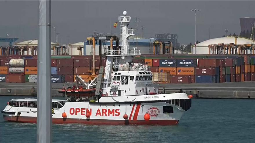 Second migrant ship docks in Spain