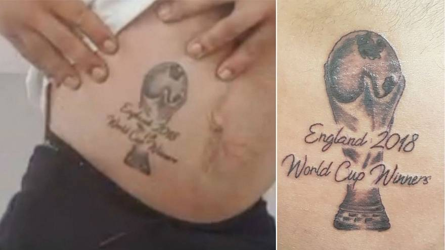 'It's coming home': English superfan gets 'World Cup Winners' tattoo after epiphany