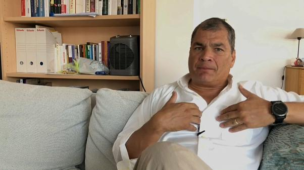 Ecuador returning to banana republic status, says ex-president, as he dismisses arrest warrant