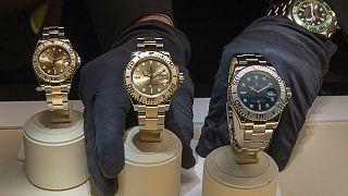 Dünyanın en ünlü lüks saat üreticilerinden Rolex'in bir modeli.