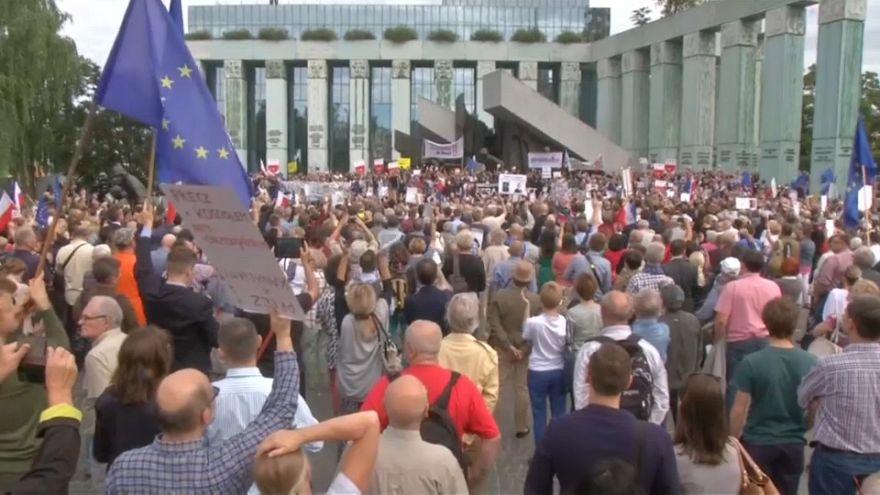 Protestas en Polonia por la reforma judicial del Gobierno