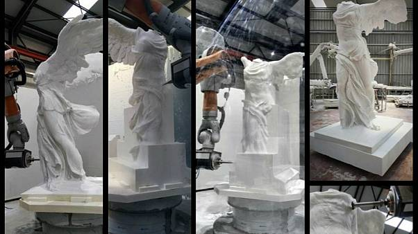 A replica of the Winged Victory of Samothrace is being made in Greece