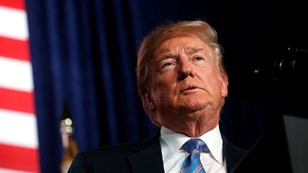 الرئيس الأمريكي دونالد ترامب في وست فرجينيا يوم 3 يوليو تموز 2018.