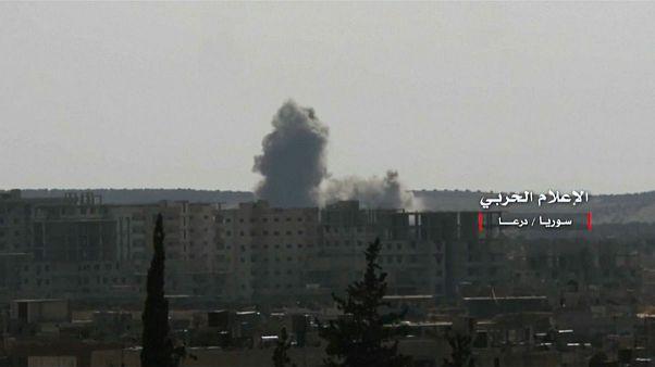 صدها هزار آواره در پی حملات شدید سوریه و روسیه به مواضع شورشیان درعا