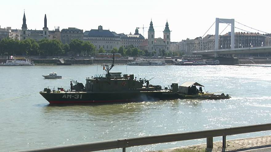 Elisabeth bridge across the Danube