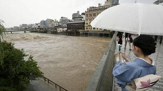 Severe floods force thousands to evacuate in Japan