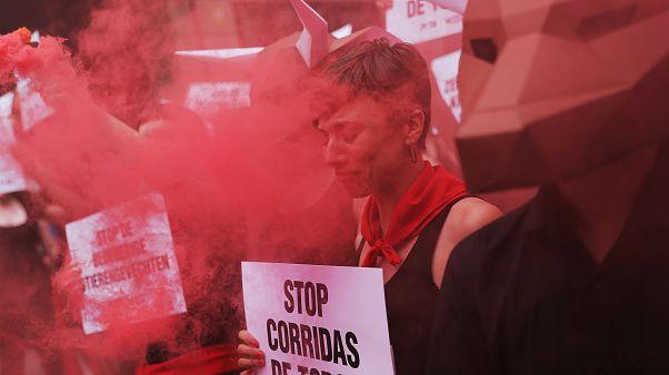Διαμαρτυρίες για τις ταυροδρομίες στην Παμπλόνα