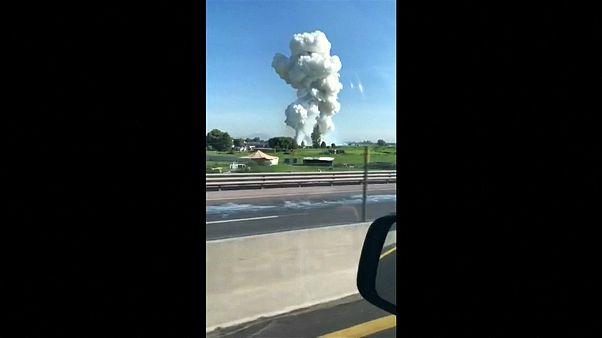 شاهد:  انفجار ألعاب نارية يودي بحياة 24  شخصا في المكسيك
