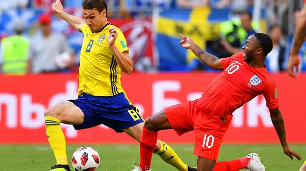 England and Sweden compete for a place in the semi-final