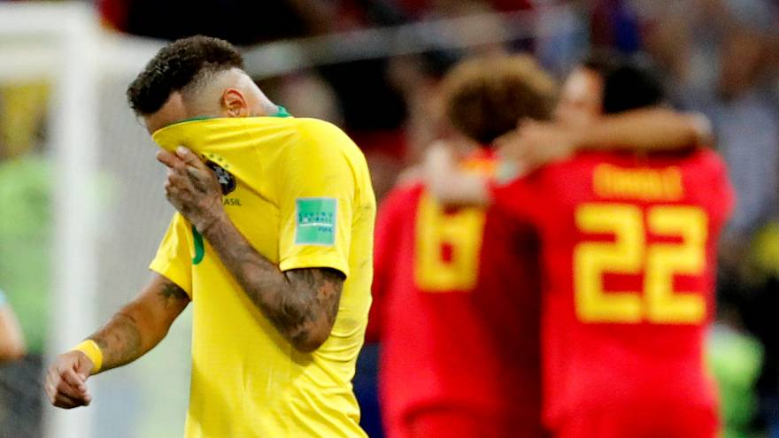 World Cup: Belgium are through to the semis after beating Brazil 2-1