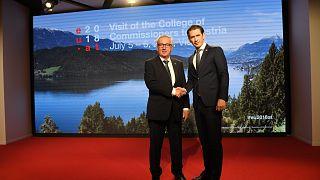 Le président de la Commission européenne et le chancelier autrichien