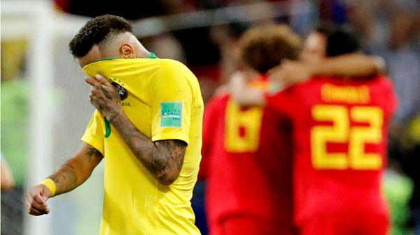 شکست برزیل دربرابر بلژیک در جام جهانی روسیه