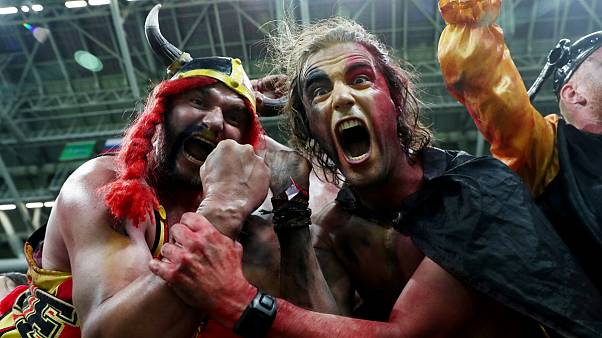 Belgians ecstatic over 2-1 victory against Brazil