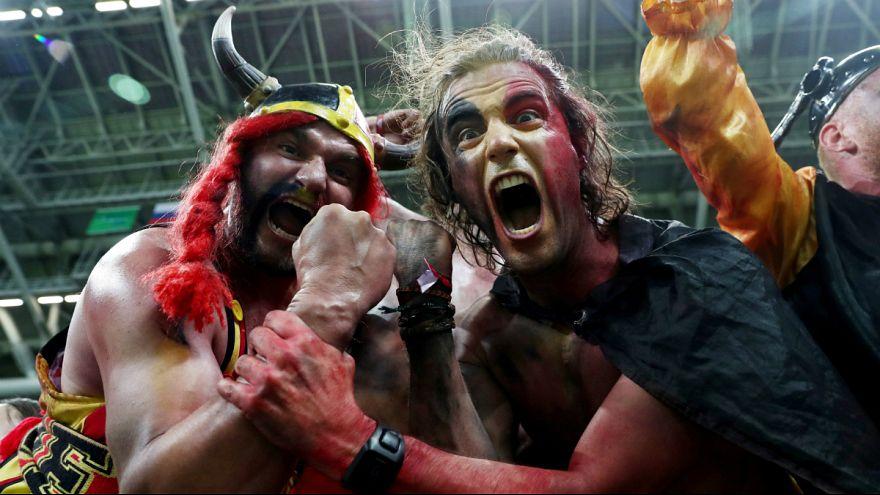 Belgians ecstatic over 2-1 victory against Brazil