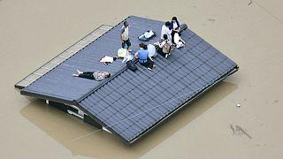 دهها کشته و ناپدید حاصل سیلاب تاریخی در ژاپن