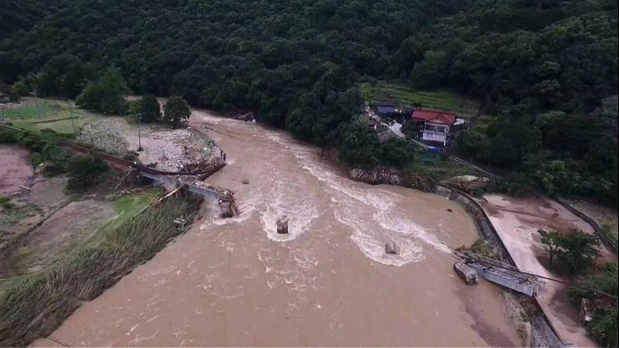 Több tucat áldozat a japán áradásokban