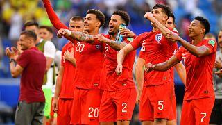 المنتخب الانكليزي بعد الفوز على السويد