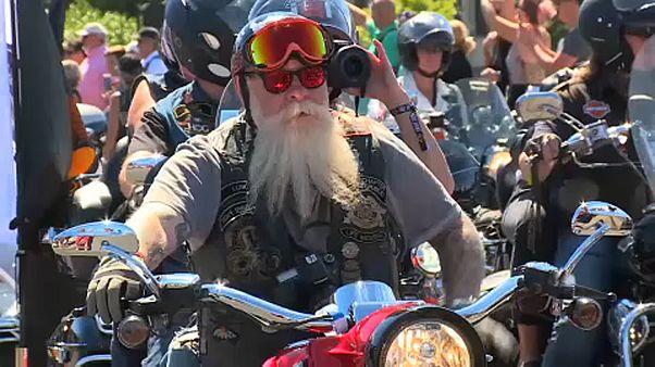Tens of thousands parade at Prague Harley-Davidson festival