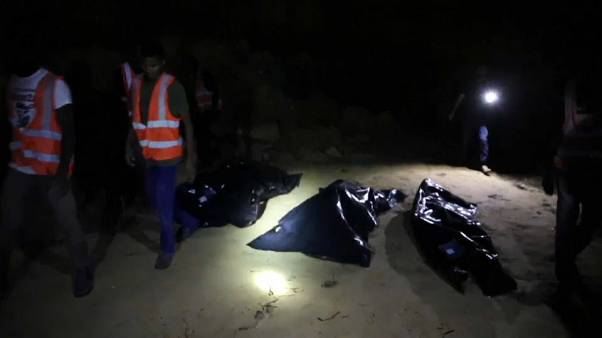 File photo of body of dead migrant being retrieved by Libyan Red Crescent