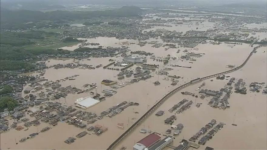 استمرار جهود الإنقاذ في اليابان بعد أعنف موجة أمطار تشهدها البلاد