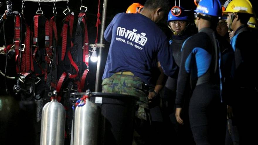 Four Thai boys saved from cave as the rest wait for rescue to resume Monday