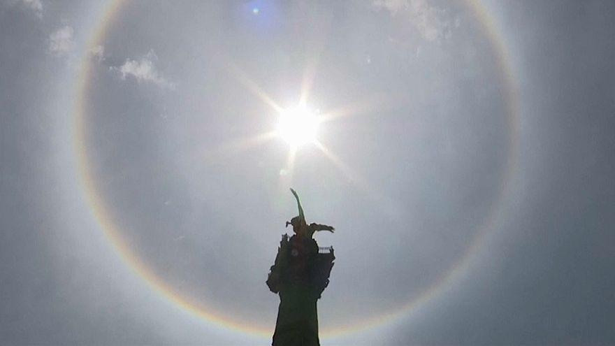 ظهور هاله خورشید در مکزیک