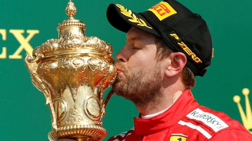 Sebastian Vettel, más líder tras ganar en Silverstone