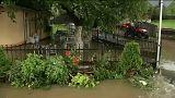 Házakat öntött el a víz Romániában