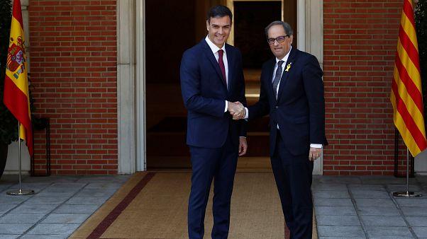 Catalogna: primo faccia a faccia Sanchez-Torra