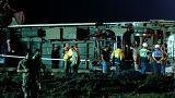 24 قتيلا جراء خروج قطار عن القضبان في تركيا