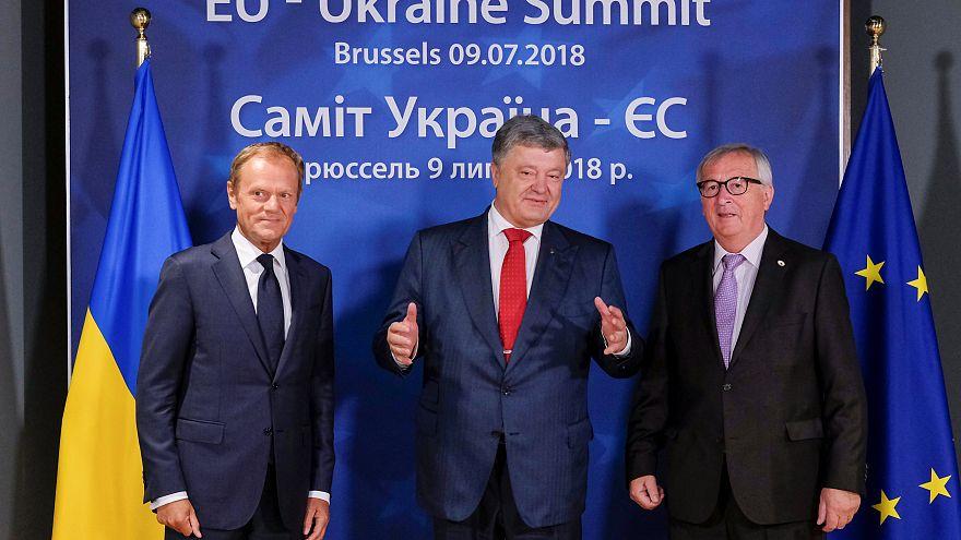 Cimeira UE-Ucrânia: Poroshenko critica gasoduto russo