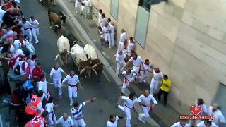شاهد: مهرجان سان فيرمين للركض مع الثيران لليوم الثالث