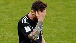 الأرجنتيني ليونيل ميسي خلال مباراة منتخب بلاده أمام منتخب أيلسندا