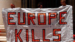 Maltalı aktivistlerden 'anlamlı protesto'