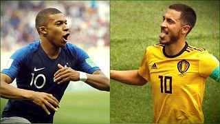 Belgas e franceses lutam por um lugar na final