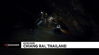 تایلند؛ کار سخت غواصان برای ایمن سازی مسیر خروج نوجوانان محبوس در غار