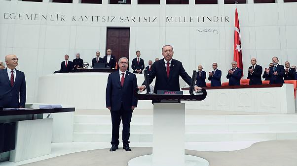 Turkey swears in President Erdogan