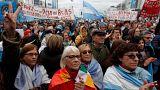 Manifestación en Buenos Aires contra el acuerdo del gobierno con el FMI.