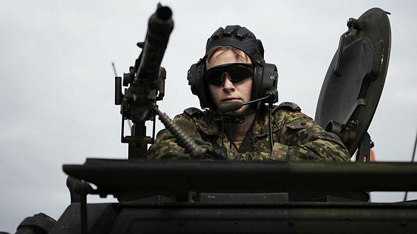 جندي ألماني  خلال مناورات  صابر سترايك-منطقة البلطيق