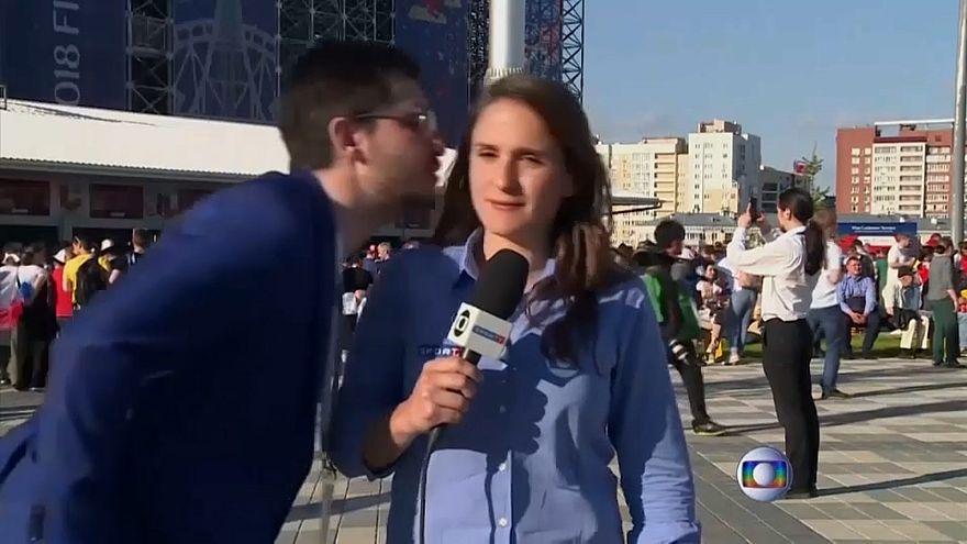 شاهد: صحفيات برازيليات يطلقن حملة ضد التحرش بعد تعرضهن لمضايقات خلال مونديال روسيا