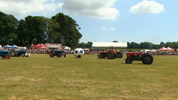 Thousands descend on Scotland for tractor footy