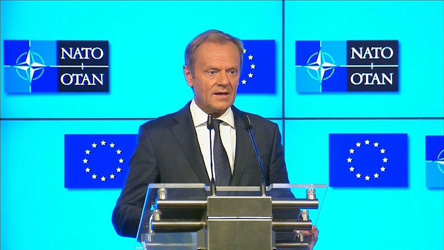EU-Ratspräsident Donald Tusk fordert Respekt von den USA