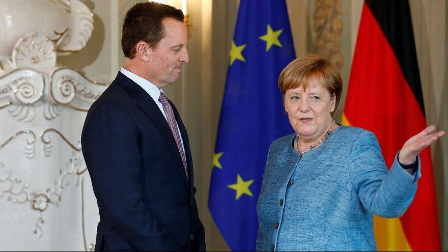 دیدار سفیر آمریکا و صدراعظم آلمان