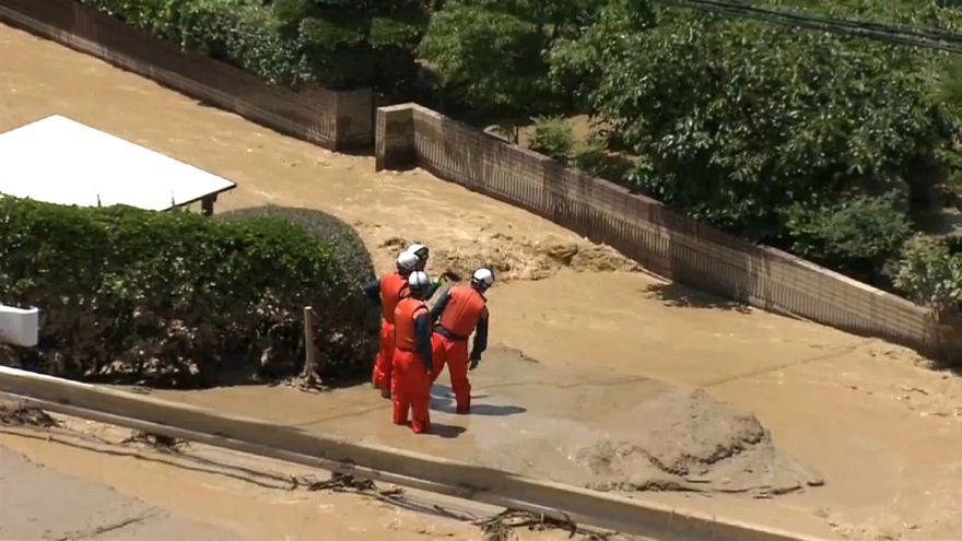 Japonya, sel felaketi, toprak kayması