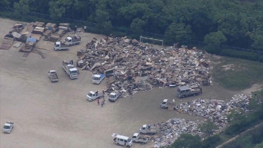 Death toll from Japan floods rise, dozens still missing