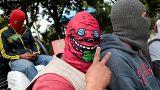 """""""La caravana por la paz"""" de los encapuchados armados en Nicaragua"""